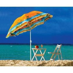 Удобный пляжный зонт с наклоном Anti-UV Пальмы 2 метра в чехле