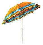 Удобный пляжный зонт с наклоном Anti-UV Пальмы 2 метра в чехле, фото 4