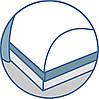 Трехслойная ортопедическая подушка с эффектом памяти - Olvi J2503, фото 6