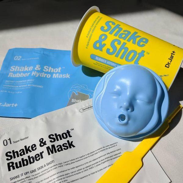 Альгінатна маска для обличчя Dr. Jart+ Dermask Shaking Rubber Hydro Shot Зволожуюча