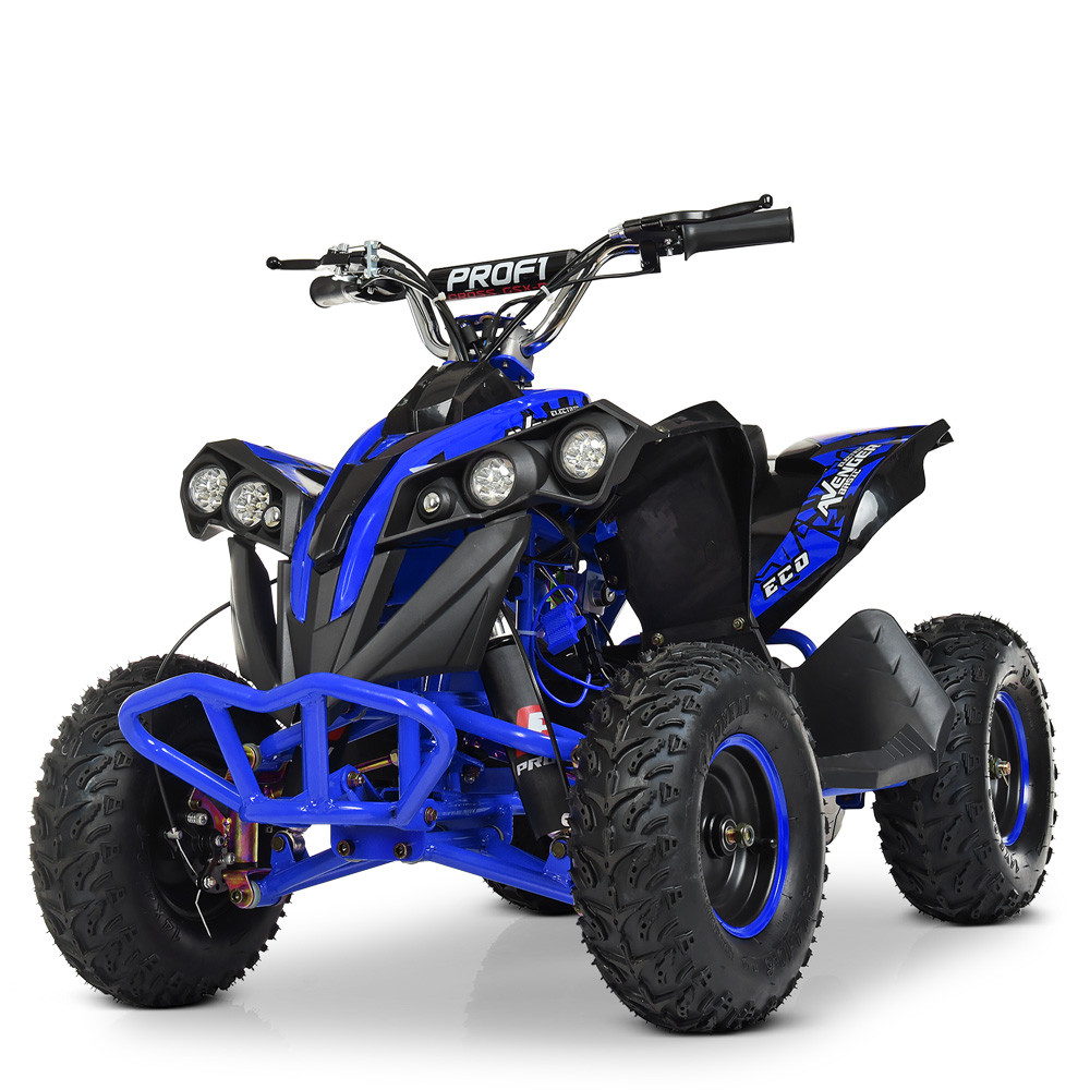 Дитячий електро квадроцикл електромобіль для підлітків PROFI HB-EATV1000Q-4ST V2 диск.гальма / синій