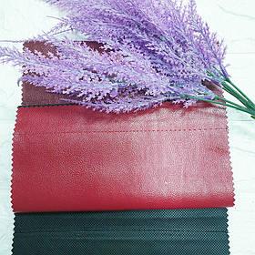 Кожзам для мебели перламутровый Венедик (Venedik) красного цвета