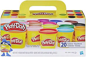 Набор Play-Doh 20 баночек разноцветного пластилина  Уценка