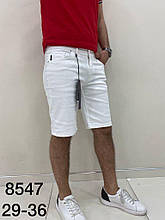 Шорты джинсовые белые (стрейч коттон )пр-во ТурцияО Д