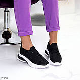 ТОЛЬКО 38,39 р!!! Кроссовки женские черные со стразами текстиль весна-лето-осень, фото 8