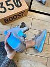Женские кроссовки Adidas Yeezy Boost 350 V2 Grey & Blue, фото 2