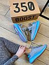 Женские кроссовки Adidas Yeezy Boost 350 V2 Grey & Blue, фото 6