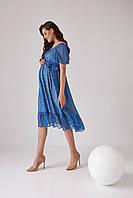 Жіночна сукня для вагітних 2164 1543 синя