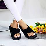 Шлепанцы женские черные натуральная замша, фото 10