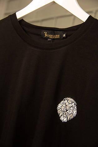 Футболка мужская Billionaire Черная Хлопковая с вышивкой Футболка и майки мужские Бренд Люкс качество 56, фото 2