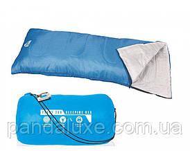 Туристический спальный мешок Bestway 68053 застежка-молния ( 68053(Blue) Синий 180-75см, застежка-молния)