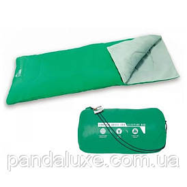 Туристический спальный мешок Bestway 68053 застежка-молния ( 68053(Green) Зелёный 180-75см, застежка-молния)
