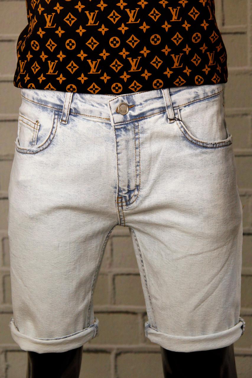 Шорты джинсовые мужские Yesir Для мужчин Хлопковая модель с манжетами Люкс качества Повседневные Бриджи