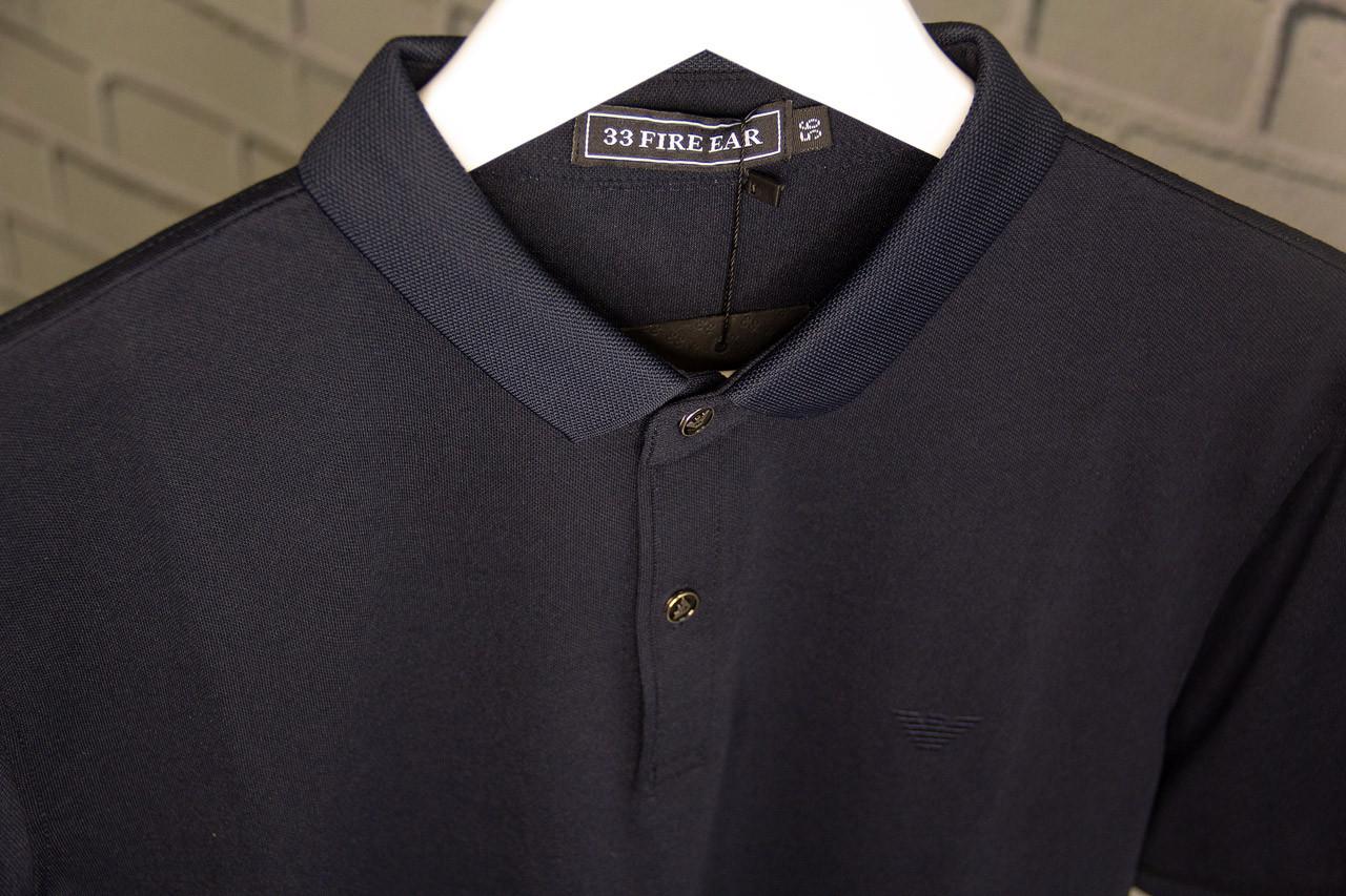 Футболка-поло чоловіча Armani Темно-синій Батник Теніска Чоловіча одяг Повсякденний модель для чоловіків