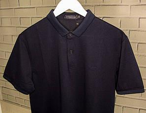Футболка-поло чоловіча Armani Темно-синій Батник Теніска Чоловіча одяг Повсякденний модель для чоловіків, фото 3