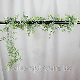 Искусственная Лиана эвкалипта  зеленого пластик с напылением 175 см
