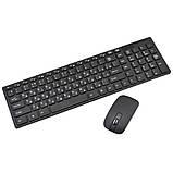 Беспроводная компьютерная клавиатура и мышь блютуз K-06 защитным покрытием Черная, фото 7
