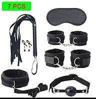 Сексуальный БДСМ набор для игр с наручниками, плеткой, кляпом и т.д