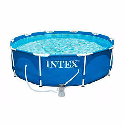 Круглий каркасний басейн Intex 28202 (305х76 см) Metal Frame Pool