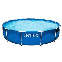 Круглий каркасний басейн Intex 28210 (366x76 см) Metal Frame Pool