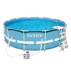 Круглий каркасний басейн Intex 28718 (366x99 см) Prism Frame Pool