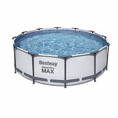 Круглий каркасний басейн 56260 (366х100 см) Steel Pro Frame Pool