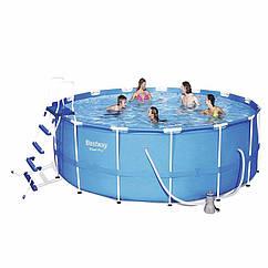 Круглий каркасний басейн 56100 (457x122 см) Steel Pro Frame Pool