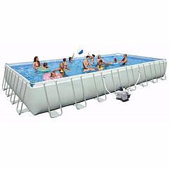 Прямоугольный каркасный бассейн Intex 26378 (28376) Ultra Frame Rectangular Pool (975x488x132 см)