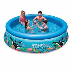 Надувной бассейн Intex 28134 Океанский Риф Ocean Reef Easy Set Pool (366x76 см)