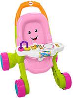 Fisher-Price Музыкальные ходунки-толкатели в виде коляски Розовые Stroll Learn Walker Pink FNV35
