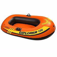 Одномісний надувний човен Intex 58329 (147х84х36 см) Explorer 100