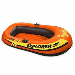 Двомісна Intex надувний човен 58330 (185х94х41 см) Explorer 200