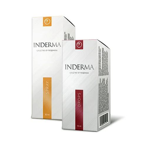 Inderma комплекс від псоріазу крем+краплі Индерма 12526