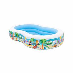 Семейный надувной бассейн Intex 56490 Swim Center Paradise Pool (262х160х46 см)