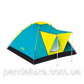 Палатка туристическая трёхместная BW 68088 с навесом