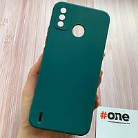 Чехол для Tecno Spark 6 Go плотный силиконовый матовый чехол на техно спарк 6 го зеленый SQA