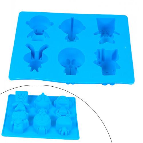 Форма силиконовая для кексов, пирожных, льда, конфет, Животные