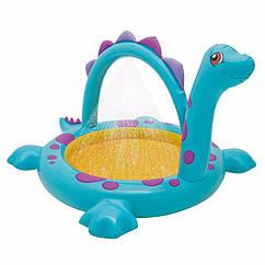 """Дитячий надувний басейн Intex 57437 """"Динозаврик"""" Dino Spray Pool (229х165х117 см)"""
