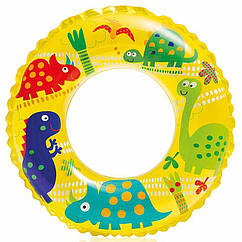 Дитячий надувний круг Intex 59242 (Жовтий) Ocean Reef Transparent Rings (61 см)