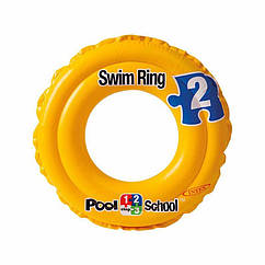 Дитячий надувний круг Intex 58231 Deluxe Swim Ring Pool School Step 2 (51 см)