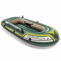Двухместная надувная лодка Intex 68346 (236x114x41 см) SeaHawk 2