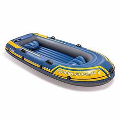 Трехместная надувная лодка Intex 68369 (295х137х43 см) Challenger 3