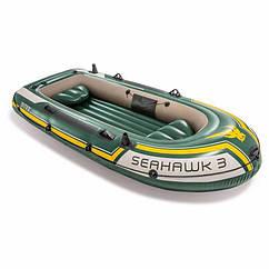 Тримісна Intex надувний човен 68349 (295х137х43 см) SeaHawk 3