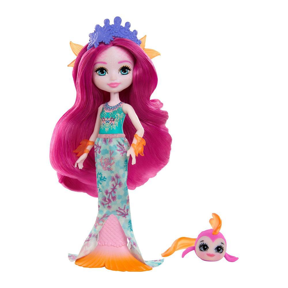 Кукла Enchantimals Royal Русалочка Маура с рыбкой Глайд Енчантималс  (GYJ02)