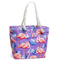 Молодежная текстильная женская сумка фиолетовая