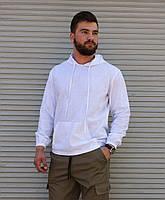 Белый льняной худи мужской   100% лён   летний худи, фото 1