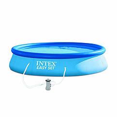 Надувной бассейн Intex 28142 Easy Set Pool (396x84 см)