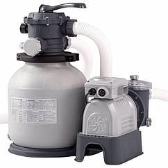 Песочный фильтрующий насос Intex 28646 (7900 л/час, 23 кг) Crystal Clear Sand Filter Pump (для бассейнов,
