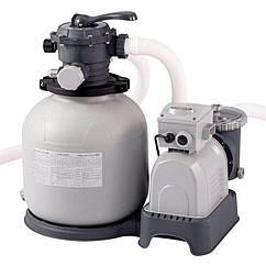 Пісочний фільтруючий насос Intex 28648 (10500 л/год, 35 кг) Krystal Clear