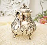 Посеребренный английский заварочный чайник, серебрение, мельхиор, GRAYSON & SON, Англия, фото 5